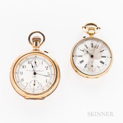 Two Gold Open-face Watches