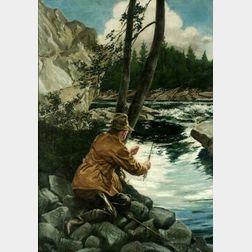 Henry S. Watson (American, 1868-1933)  Fly Fishing