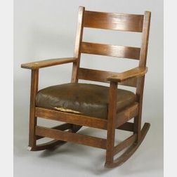 Arts & Crafts L. & J. G. Stickley Rocking Chair