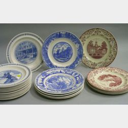 Twenty-four Assorted Wedgwood Collector's Plates
