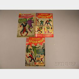 Three Silver Age The Amazing Spider-Man  , No. 2, 4, and 6