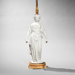 Neoclassical-style Porcelain Lamp