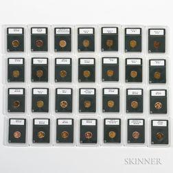 Twenty-eight Lincoln Cents