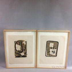 Three Framed Albert Urban (New York, 1909-1959) Still Life Prints