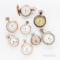 Eight American Pocket Watches