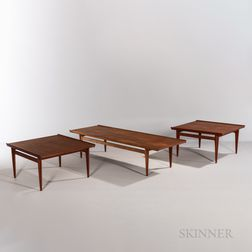 France & Son for John Stuart Coffee Table and Two End Tables
