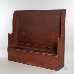 Red-painted Pine Settle