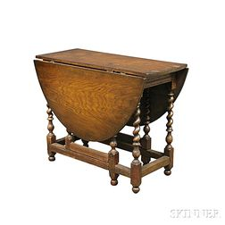 William & Mary-style Oak Gate-leg Table