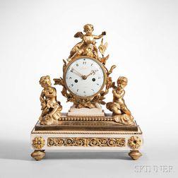 Napoleon III Ormolu-mounted Mantel Clock