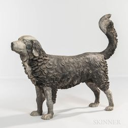 Cast Metal Figure of a Dog