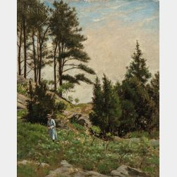 Ernest Wadsworth Longfellow (American, 1845-1921)      Study of Hillside, Manchester