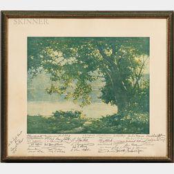 Salmagundi Club Shaw Prize Presentation Print      featuring a landscape by Charles Rosen.