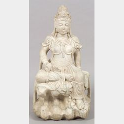 Large Marble Figure of a Goddess