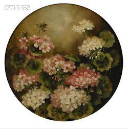 Benjamin Champney (American, 1817-1907)      Martha Washington Geraniums