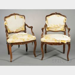 Pair of Provincial Fauteuils