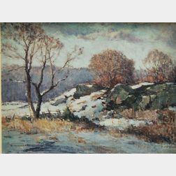 Gershon Camassar (American, 1908-1995)      Ledges in Snow