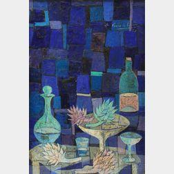 Angel Ponce de Leon (Spanish, b. 1925)      Modernist Still Life.