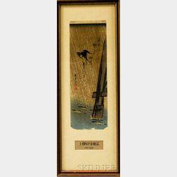 Utagawa Hiroshige (1797-1858), Swallow and Ayu by Bridge