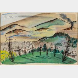 Rex Jesse Ashlock (American, 1918-1999)      Summer Landscape, California