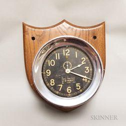 Chelsea Black Dial Mark I Deck Clock