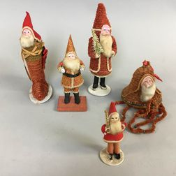 Five Japanese Santa Claus Figures