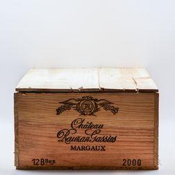 Chateau Rauzan Gassies 2000, 12 bottles (owc)