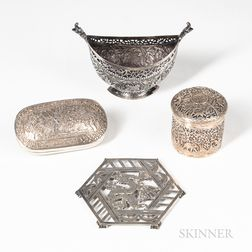 Four Asian Silver Items