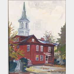 John Paul Manship (American, 1927-2000)    Hilliard's Frameshop  /A Rockport View