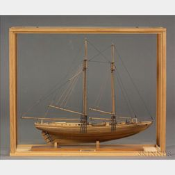 Cased Wooden Model of the Schooner Mary Eugena 1904-1981