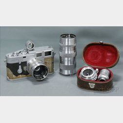 Leica M3 Outfit with Three Lenses