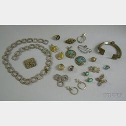 Assorted Sterling and Other Silver Jewelry