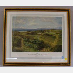 Set of Three Donald M. Shearer British Golfing Lithograph Prints