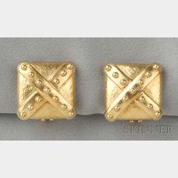 18kt Gold Earclips, Elizabeth Locke
