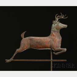 Molded Sheet Copper Leaping Deer Weather Vane