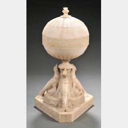 Art Deco Alabaster Lamp