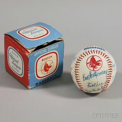 1975-1977 Boston Red Sox Autographed Baseball