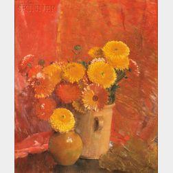 Laura Coombs Hills (American, 1859-1952)      Calendulas