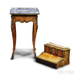 Louis XV-style Bronze-mounted Table and Lap Desk