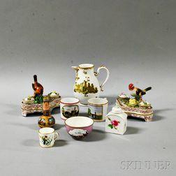Nine Pieces of European Porcelain