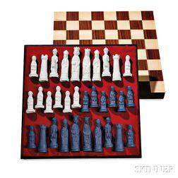 Wedgwood Jasper Arnold Machin Designed Chess Set