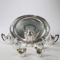 """Shreve, Crump & Low """"Paul Revere"""" Pattern Sterling Tea and Coffee Service"""