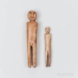 Two Eskimo Figures