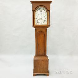 Glazed Walnut Tall Case Clock with English Movement