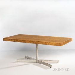 Baughman-style Burl Veneer X-Base Desk