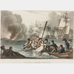 Matthew Dubourg (British, 18th/19th Century), After William Heath  (British, 1795-1840), Anecdote at the Battle of Trafalgar