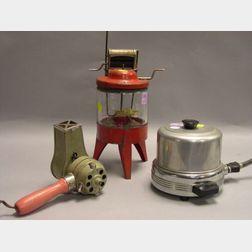 Gilbert Toy Washing Machine, Toy Baking Item, and Modern Hair Dryer.
