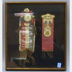 Two Framed United Brotherhood of Carpenters & Joiners of America   No. 441, Cambridge, Massachusetts, Ribbons