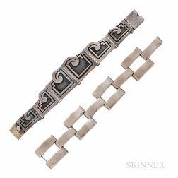 Coro, Victoria, Two Silver Bracelets