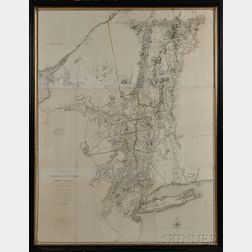 Sauthier, Claude Joseph (1736-1802)   Chorographical Map of the Province of New York in North America