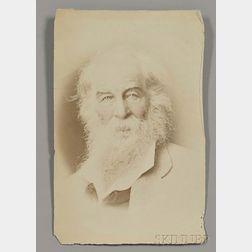 Whitman, Walt (1819-1892) Two Period Photographs.